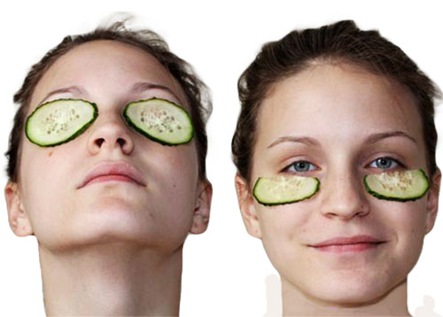 огуречная маска на глаза