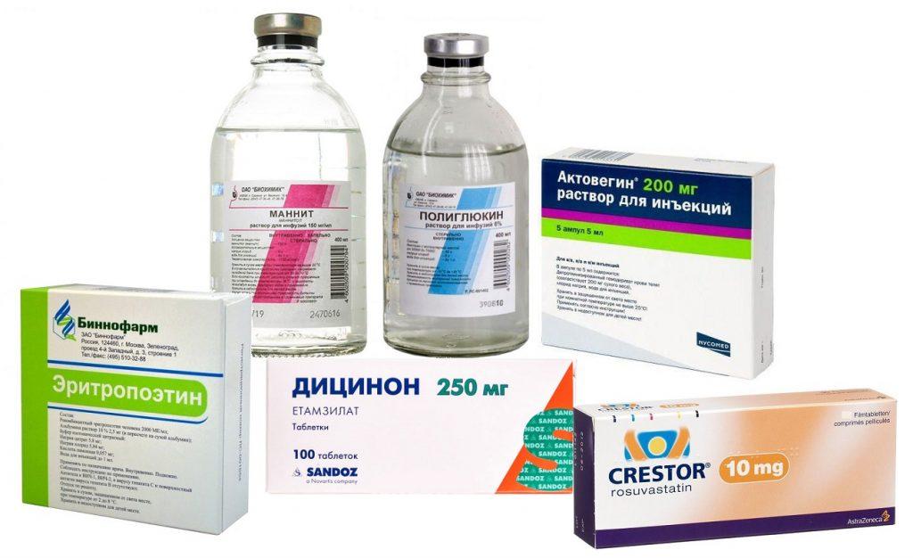 препараты при ушибе головного мозга