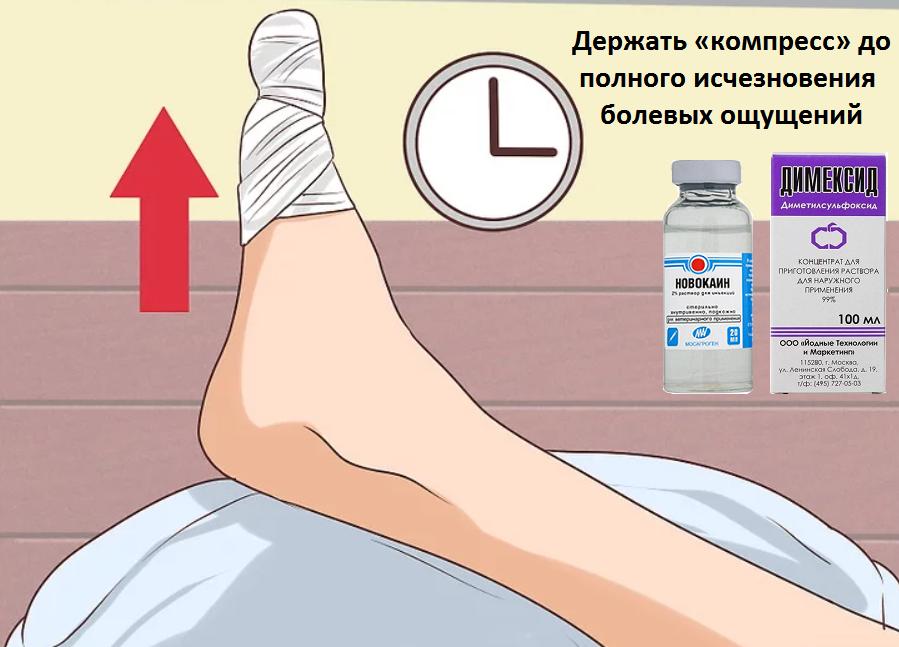 компресс на палец ноги